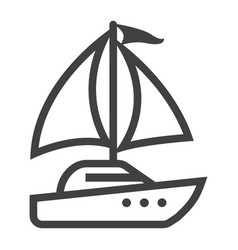 Yacht line icon travel and tourism vector