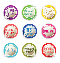 abstract modern label collection vector image vector image