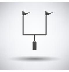 American football goal post icon vector image