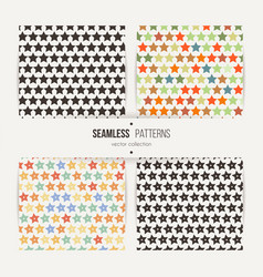 collection of star patterns vector image vector image