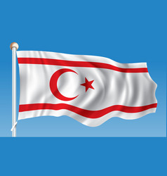 flag of northern cyprus vector image