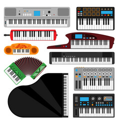 keyboard musical instruments isolated classical vector image vector image