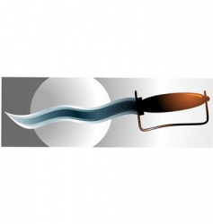 knife vector image vector image