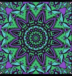 mandala colorful ethnic round ornament vector image
