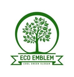 Eco emblem vector image vector image