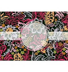 Floral ornament with copy space vector image vector image