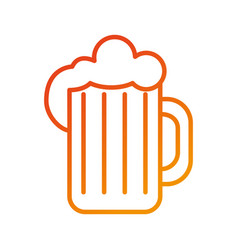 glass of beer foam cold fresh drink beverage vector image