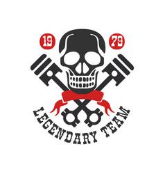 legendary tean logo 1979 design element for moto vector image