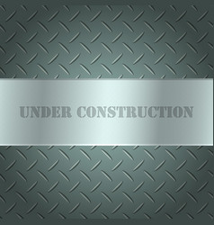 metallic background with tread plate texture and vector image