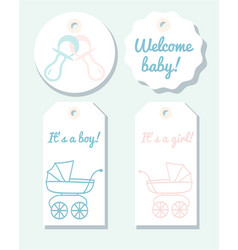 tags for baby shower vector image