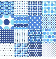 Circular polka dots background texture vector