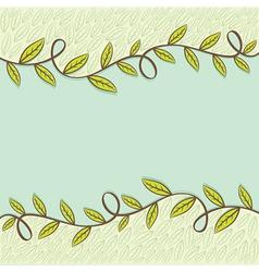 retro natural leaflet or brochure design vector image vector image