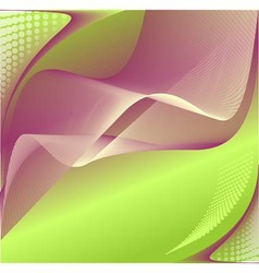 Abstract background in green lilac colors vector image