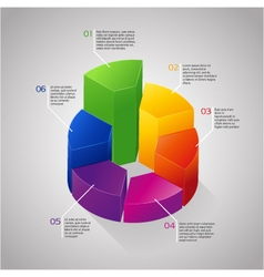 circle 3D diagram vector image