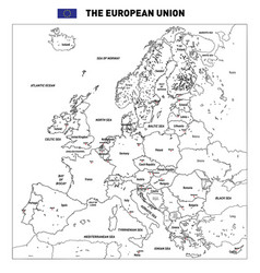detailed political map of the european union vector image