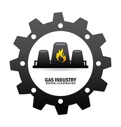 gas industry design vector image