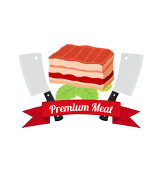 meat barbecue grill icon bbq flat style vector image vector image
