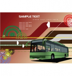 public transport background vector image