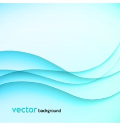Abstract colorful background blue wave vector