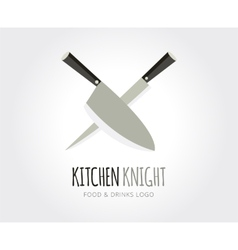 Abstract knife logo template for branding vector image