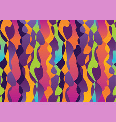 abstract tropical colors shapes seamless pattern vector image