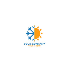 Air conditioner and heating logo design vector