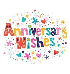 Anniversary wishes vector image