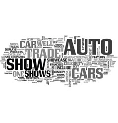 Auto trade shows text word cloud concept vector