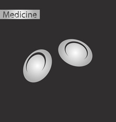 Black and white style icon of blood cells vector
