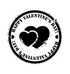 Black Valentine stamp vector image
