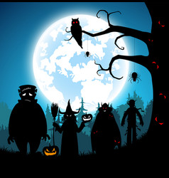 blue backgroundfestival halloween vector image