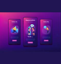 Body positive app interface template vector