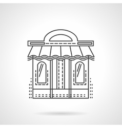 Book shop facade flat line icon vector image