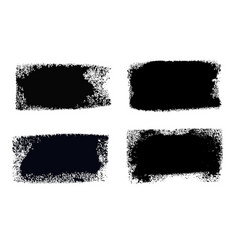 brush stroke paint boxes set vector image