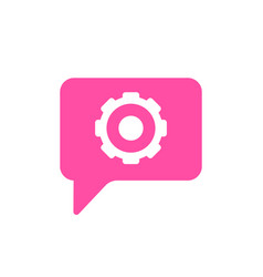 bubble chat configuration gear message settings vector image