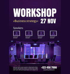 business strategy workshop poster vector image