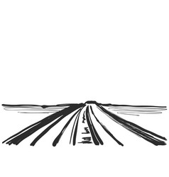 cartoon landscape with road vector image