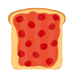 cherry jam on toast with jelly made in flat style vector image