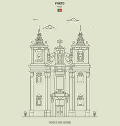 Church saint ildefonso in porto portugal vector