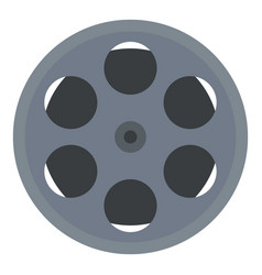 cinema film reel icon flat style vector image