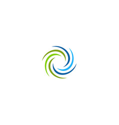 Circle spin round abstract business logo vector