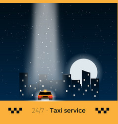city taxi vector image vector image