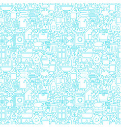 cleaning white line seamless pattern vector image
