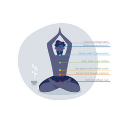 color chakras with man vector image
