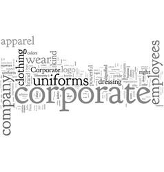 corporate apparel vector image