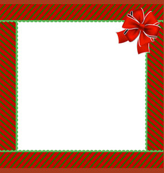 cute christmas or new year frame with green and vector image