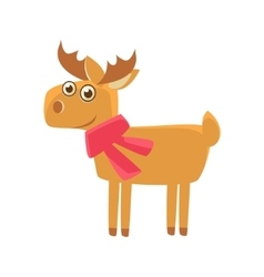 Deer wearing a scarf vector