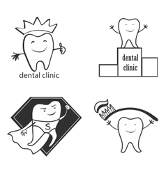 Dental symbol collection Clean and bright designs vector