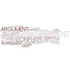 Disagreement word cloud concept vector