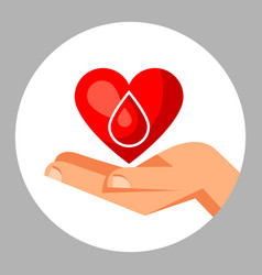 Donate blood medical and healthcare concept vector